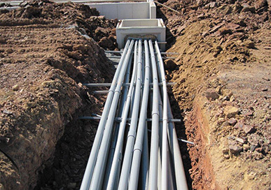 Trenches with Piping